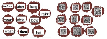 QR Codes Spagetti and Meatballs: Sight Words Activity