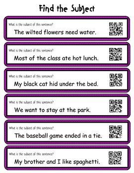 QR Codes: Subject and Predicate