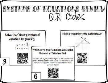 Systems of Equations/Inequalities Review - QR Codes