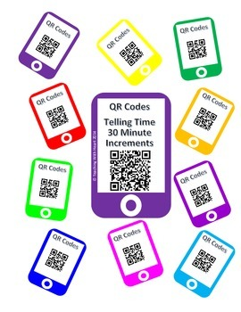 QR Codes Telling Time - 30 Minute Intervals