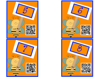 QR Codes Tens and Ones Scoot