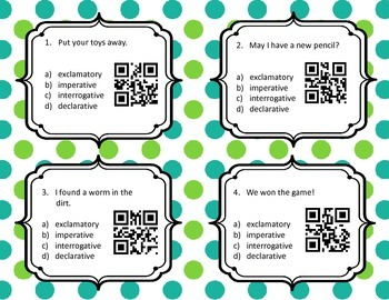 QR Codes  Types of Sentences