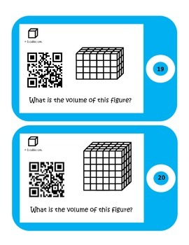 QR Codes Volume Task Cards