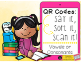 QR Codes: Vowels or Consonants Sort Literacy Centers (Common Core Aligned)