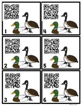 QR Codes - Waterfowl (ducks, geese, swans)