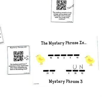 QR Codes Word Problems Game