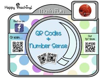 QR Codes and Number Sense Interactive Math Posters - ENGLISH version