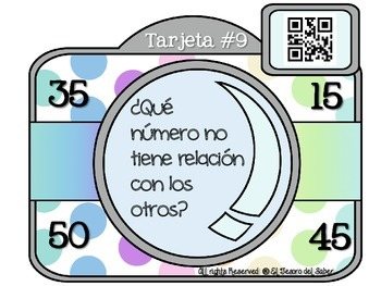 QR Codes and Number Sense Interactive Math Posters SPANISH - Sentido numérico