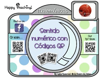 QR Codes and Number Sense Interactive Math Posters SPANISH