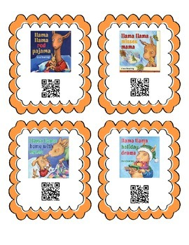 QR Code Cards for 6 different Llama Llama Stories. Great Literacy Center.
