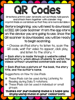 QR Codes for Author Anna Dewdney - Listening Center