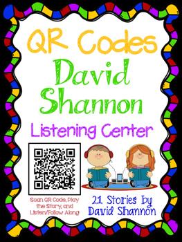 QR Codes for Author David Shannon - Listening Center