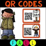 QR Codes for CVC Sentences - Fall Themed