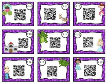 QR Codes for Decomposing Numbers 1-10 (Fairy Tale Theme)