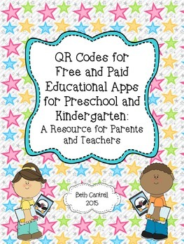 QR Codes for  Free and Paid Educational Apps for Preschool and Kindergarten