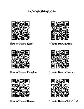 QR Codes for How to Draw Videos on YouTube