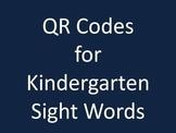 QR Codes for Kindergarten Sight Words