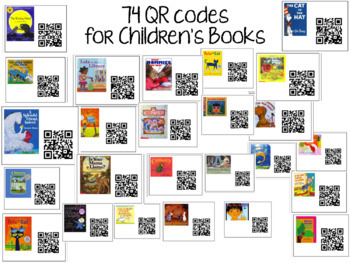 QR Codes for Listening Center- 64 Different Books with Pictures