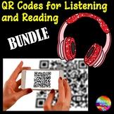 QR Codes for Listening Station Center Activities BUNDLE