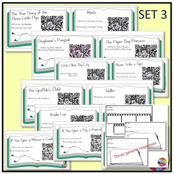 QR Codes for Listening Station Center Activities BUNDLE