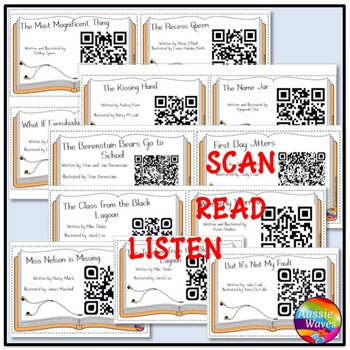 QR Codes for Listening Station Center Activities Back To School SET