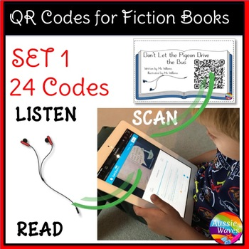 QR Codes for Listening Station Center Activities SET 1