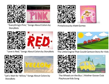 QR Codes for Math-colors & Nursery Rhymes