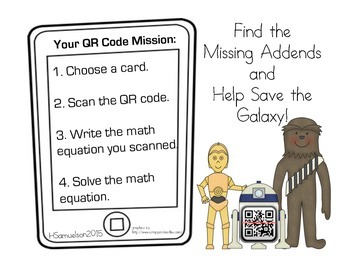QR Codes for Missing Addends