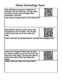QR Codes for Multiplication Word Problems
