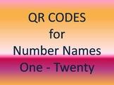 QR Codes for Number Names One - Twenty