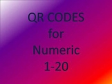 QR Codes for Numeric 1-20