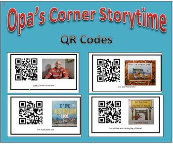 QR Codes for Opa's Corner Storytime stories - Mem Fox