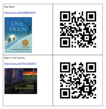 QR Codes for Popular Read Alouds
