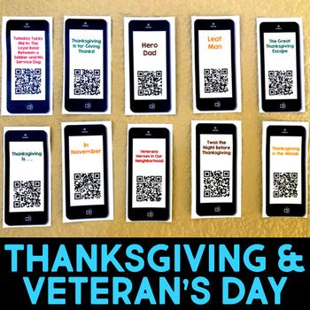 QR Codes for Videos of November & Veteran's Day Stories