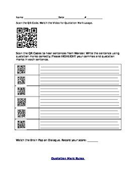 QR Codes for Wonder novel