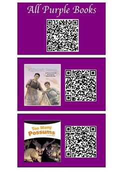 QR Codes links to audio for Purple Ready to Read Books