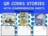 QR Codes for Read Alouds with Comprehension Sheets Polar Bear Edition for Winter