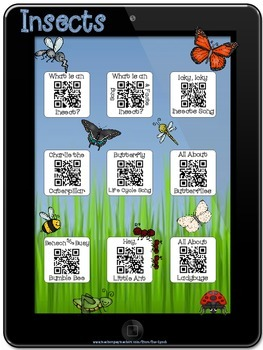 Insect Stories~QR Codes/Hyperlinks~Scan/CLICK for Listenin