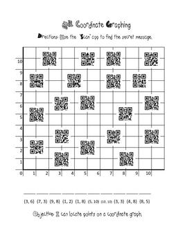 QR Coordinate Graph Activity