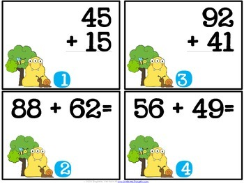 QR Critters: 2 & 3-Digit Addition {Earth Day}