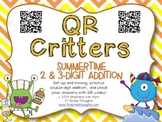 QR Critters: 2 & 3-Digit Addition {Summertime}