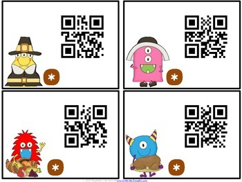 QR Critters: 2 & 3-Digit Addition {Thanksgiving}