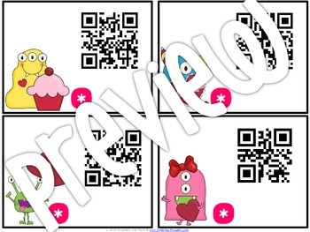 QR Critters: 2 & 3-Digit Addition {Valentine's Day}