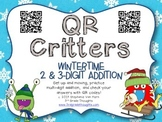 QR Critters: 2 & 3-Digit Addition {Wintertime}