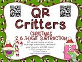 QR Critters: 2 & 3-Digit Subtraction {Christmas}