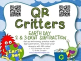 QR Critters: 2 & 3-Digit Subtraction {Earth Day}