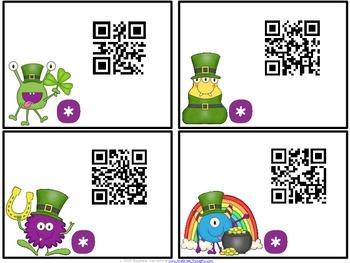 QR Critters: 2 & 3-Digit Subtraction {St. Patrick's Day}
