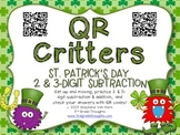 QR Critters: 2 & 3-Digit Subtraction {St. Patrick's Day}
