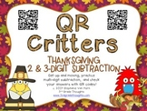 QR Critters: 2 & 3-Digit Subtraction {Thanksgiving}