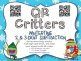 QR Critters: 2 & 3-Digit Subtraction {Wintertime}